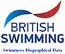 British swimming logo and link to swimmers biographical data